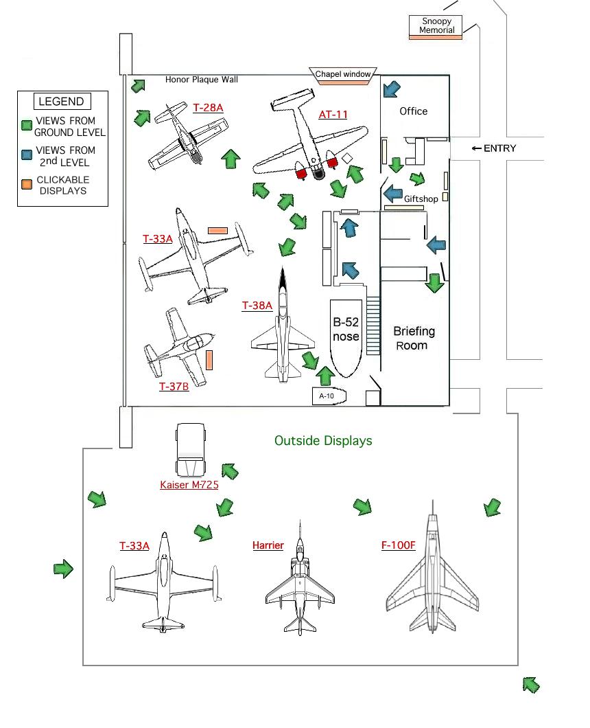 Hangar 25 Air Museum In Big Spring Texas At Former Webb Afb Harrier Engine Diagram Floorplan